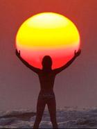 与太阳的有趣合影