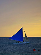 菲律宾长滩岛的暮色