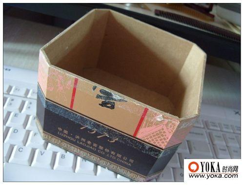 废旧的纸盒变精美收纳盒