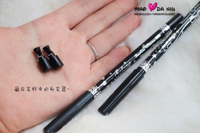 将笔管的眼线胶通过旋转形成笔芯,完全杜绝了劣质旋转眼线胶笔笔芯