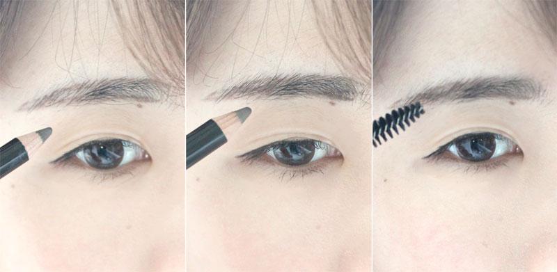 我画眉毛分为勾画眉形→填充颜色→扫刷均匀三个步