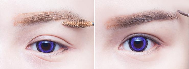韩新娘眼妆的画法步骤图片