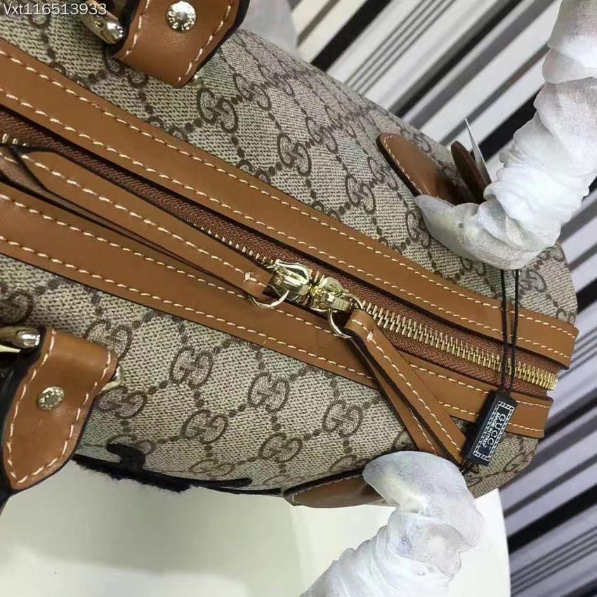 实物实拍!Gucci新款专柜原版粉虎蜜蜂系列手提包枕头包